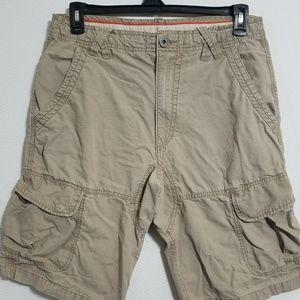 2/$60 Air Jordan Mens Khaki Cargo Shorts Medium 32